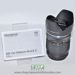 Olympus Obiettivo 14-150mm f/4-5.6 Silver II ED HSC Black + Paraluce