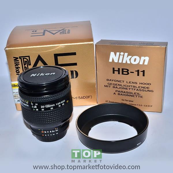 Nikon Obiettivo AF-S 24-120mm f/3.5-5.6 D + Paraluce HB11