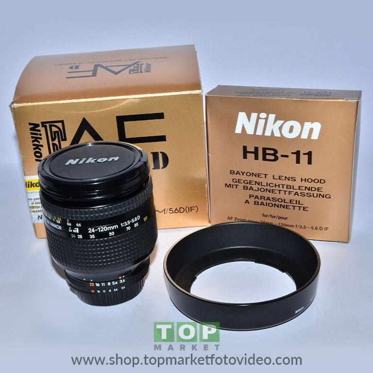 27687 Nikon Obiettivo AF-S 24-120mm f/3.5-5.6 D + Paraluce HB11