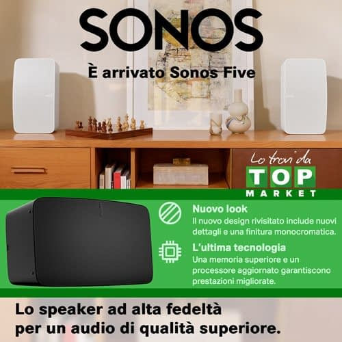 #Sonos Five White Lo speaker ad alta fedeltà per un audio di qualità superiore