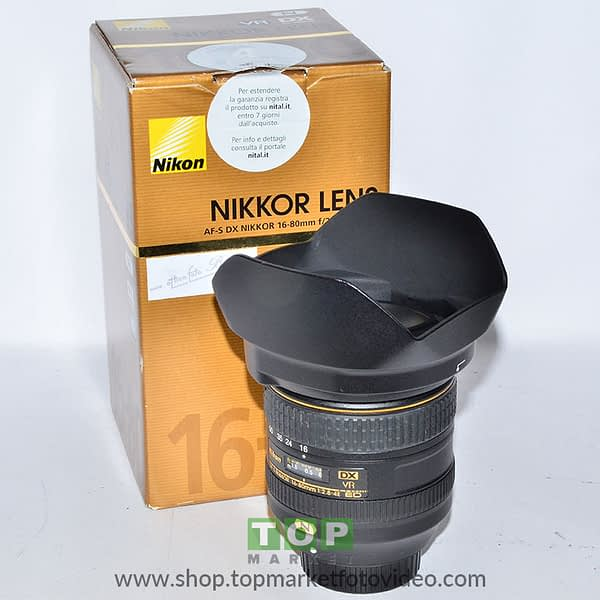 Nikon Obiettivo AF-S 16-80mm f/2.8-4 E VR